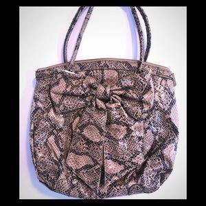 Large Jessica Simpson Python Leather Tote